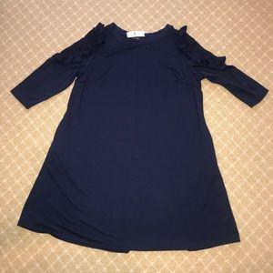 NWT Lane Bryant Sweatshirt Dress Navy Knit 14/16
